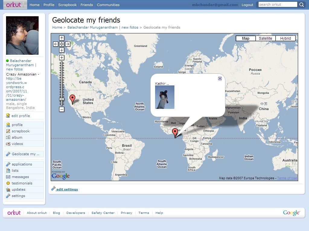 Geolocate my friends