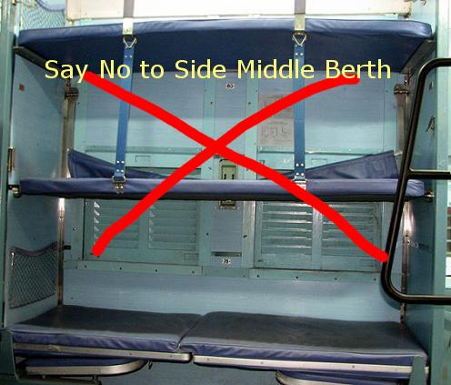 SAY NO TO SIDE MIDDLE BERTH